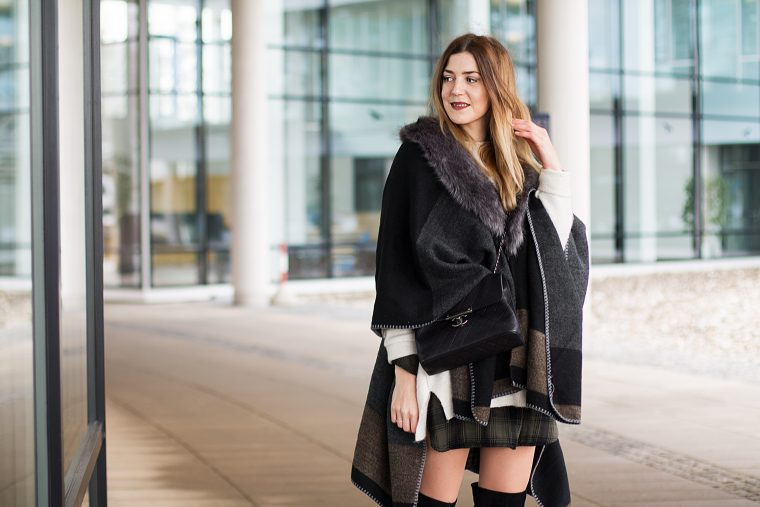 Layering Streetstyle with Poncho