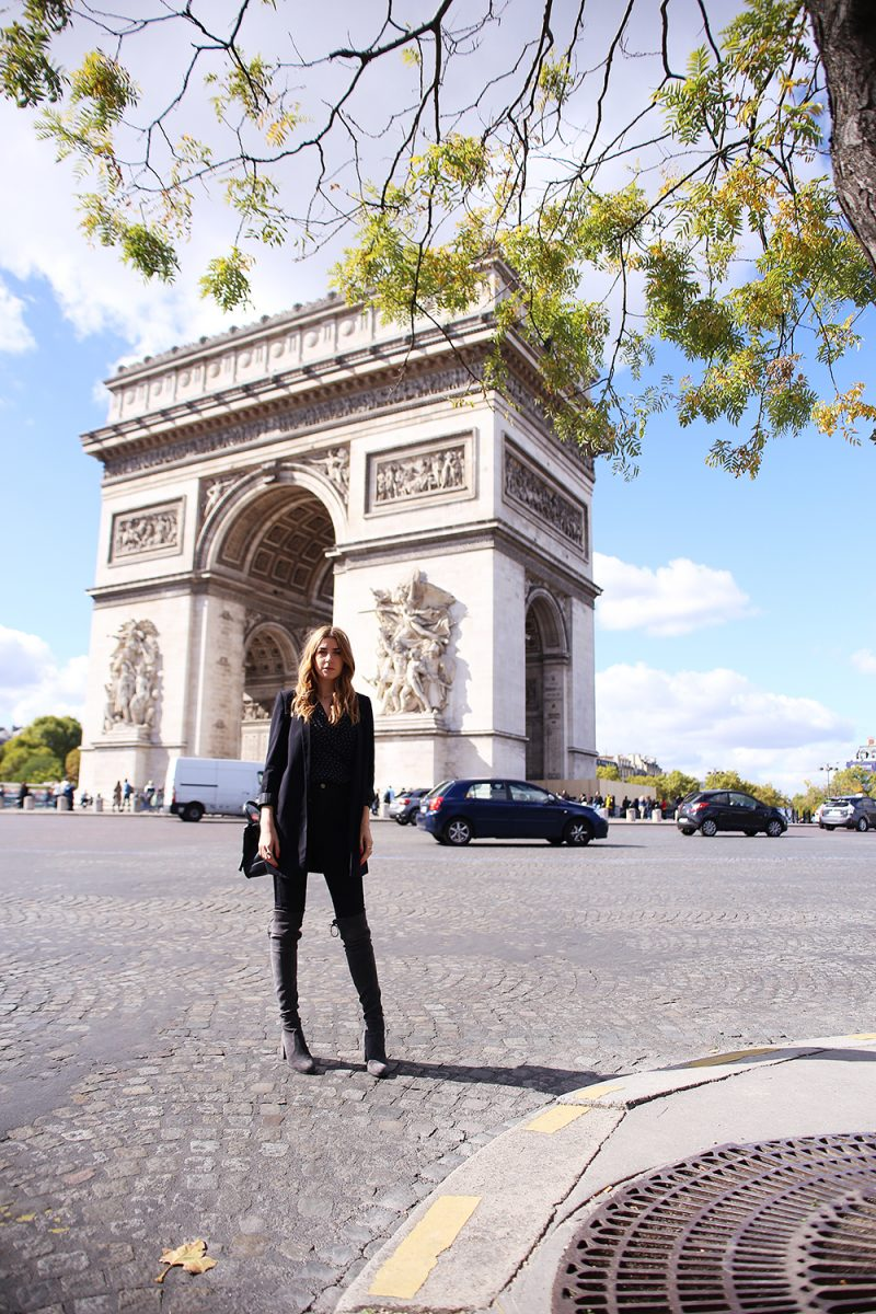 Paris Streetstyle fashionweek 2017 with stuart weitzman tieland boots