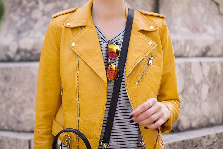 9c752c19e28e Happy Monday  Mustard Biker jacket - It s Alix