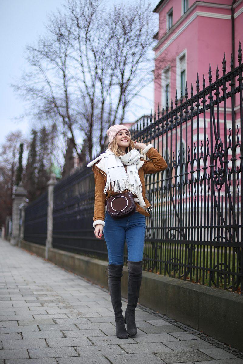 Asos tall ridley Jeans zu grauen Overknee Stiefeln von Stuart Weitzman