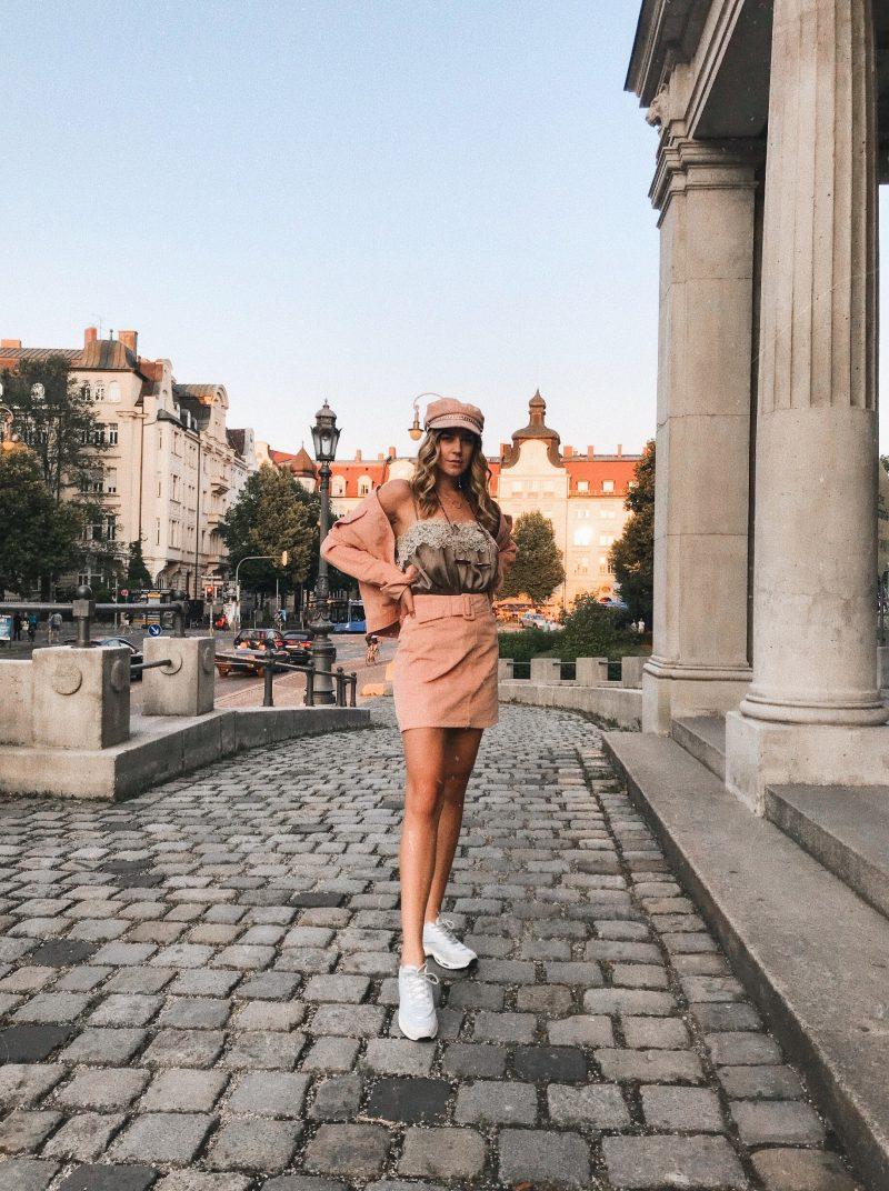 Co-ord set aus Cord in Rosa, Modebloog aus München
