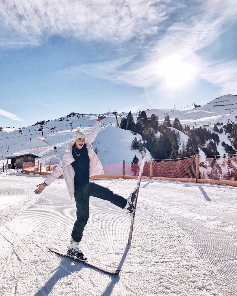 Beim Ski fahren Spieljochbahn im Zillertal
