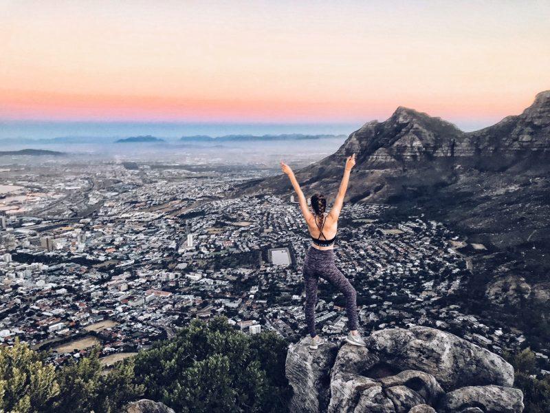 Blick vom Lions Head in Kapstadt bei Sonnenuntergang