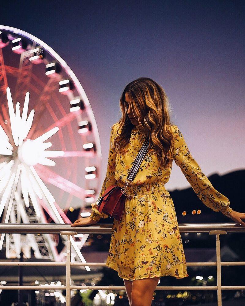 Gelbes Sommerkleid von Orsay, Modeblog aus München