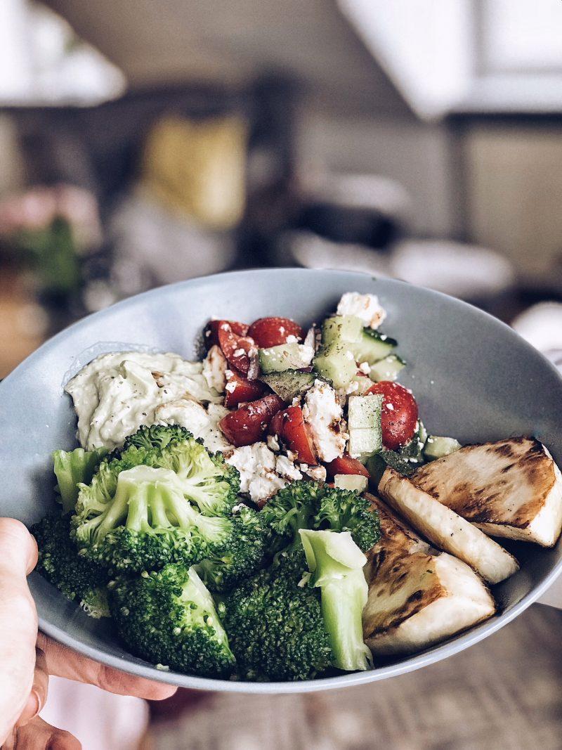 Vegetarisches Essen nach dem Training