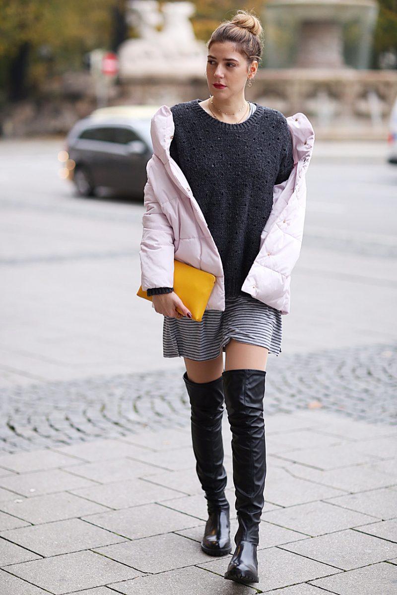 Steppjacke in Rosa von Reserved Brand, Fashionblog aus München