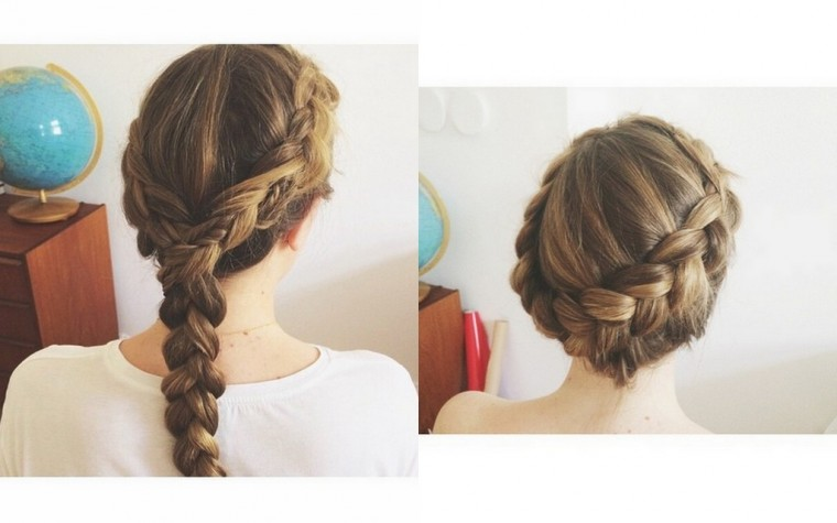 Dutch braided hair on a blonde, hair inspiration